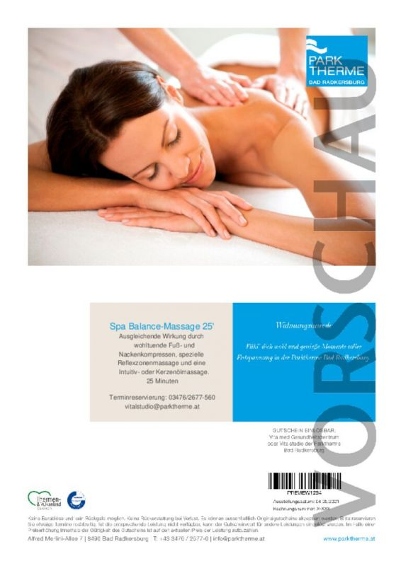 Spa-Balance Massage 25 Minuten